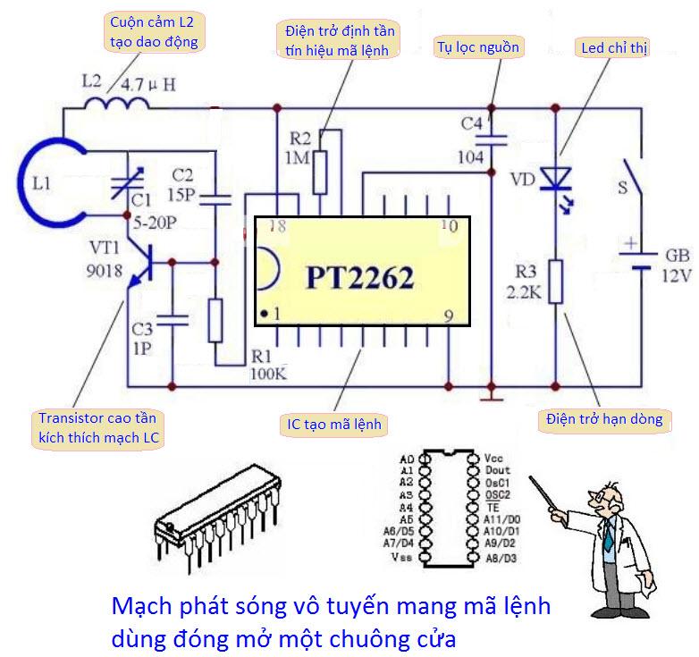 Nguyên lý làm việc của máy bộ đàm và sơ đồ mạch