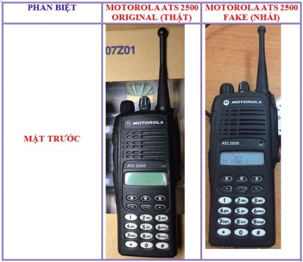 Cách nhận biết máy bộ đàm Motorola cầm tay chính hãng với hàng nhái