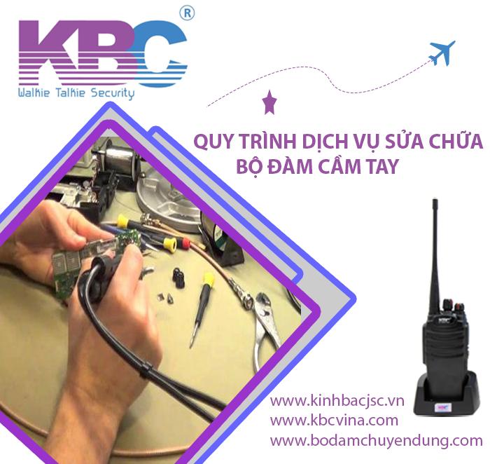 Dịch vụ sửa chữa máy bộ đàm KBC uy tín