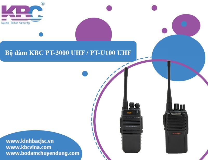 Điểm khác biệt của bộ đàm KBC PT- U100 UHF / 3000 UHF