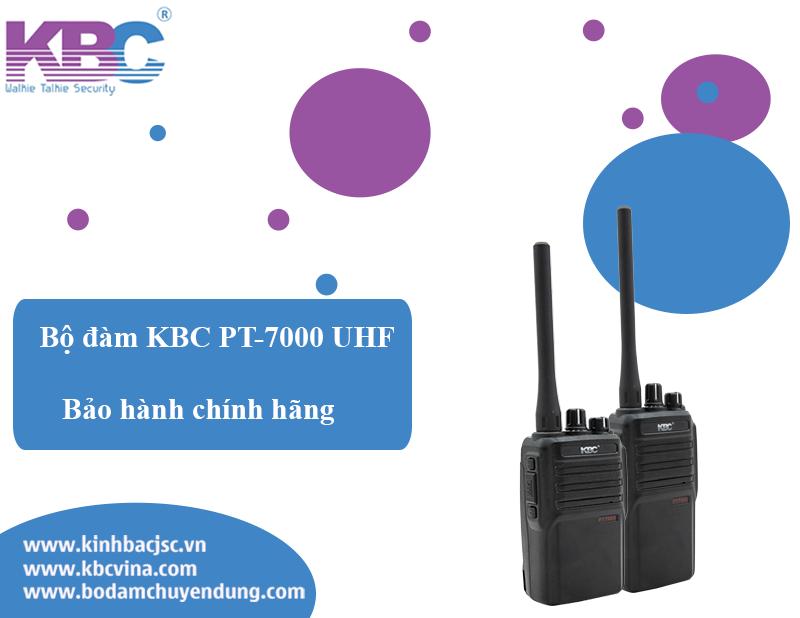 Tính năng vượt trội của bộ đàm KBC PT-7000 UHF