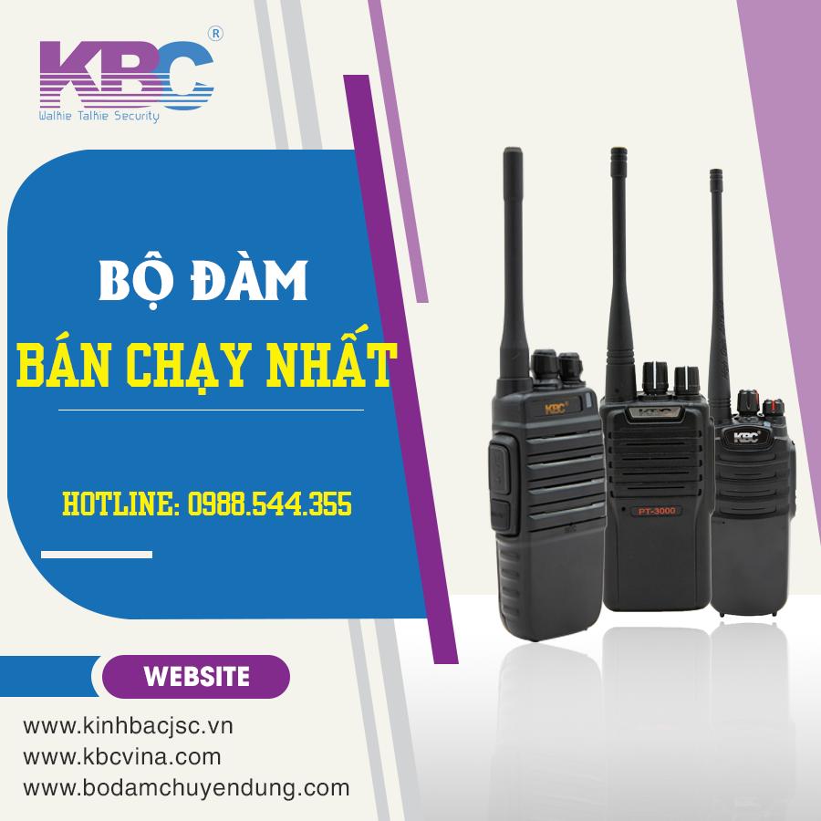 Top 8 mẫu bộ đàm kbc giá rẻ tại Hà Nội